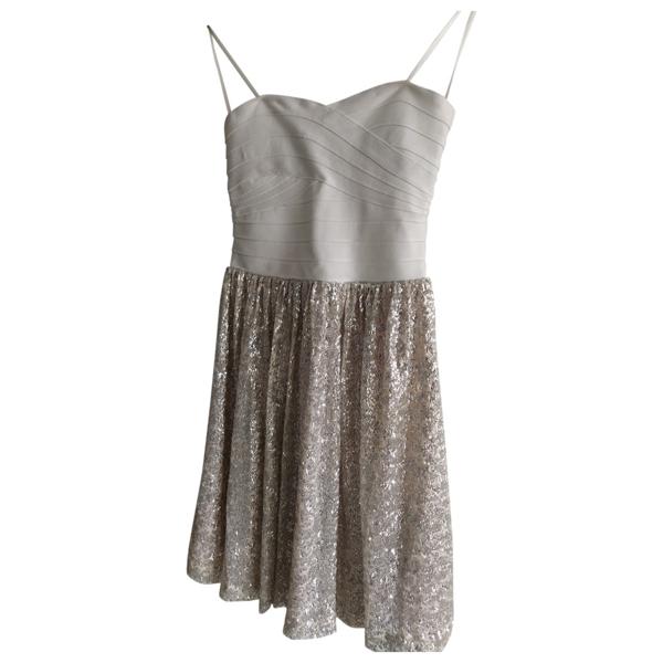 Pre-owned Erin Fetherston Ecru Glitter Dress