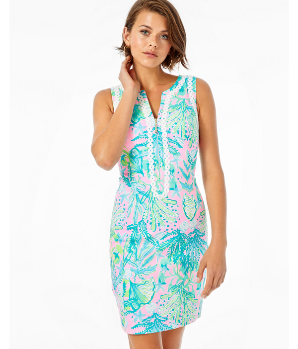 Lilly Pulitzer Delila Stretch Shift Dress In Mandevilla Baby Hip Nautic
