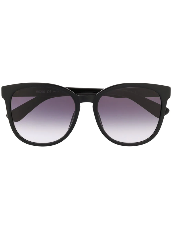 Moschino Eyewear Cat Eye Sunglasses In Black