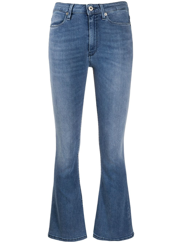 Dondup Slim Cropped Trousers In Blue