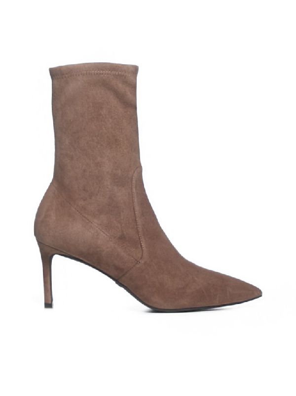Stuart Weitzman Wren Ankle Heeled Boots In Brown
