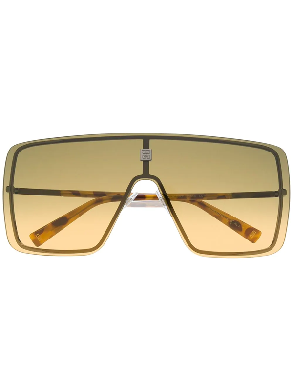 Givenchy Oversized Visor Sunglasses In Yellow