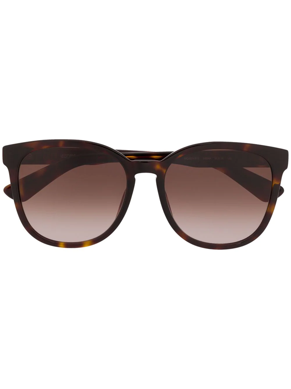 Moschino Eyewear Tortoiseshell Frame Tinted Sunglasses In Brown