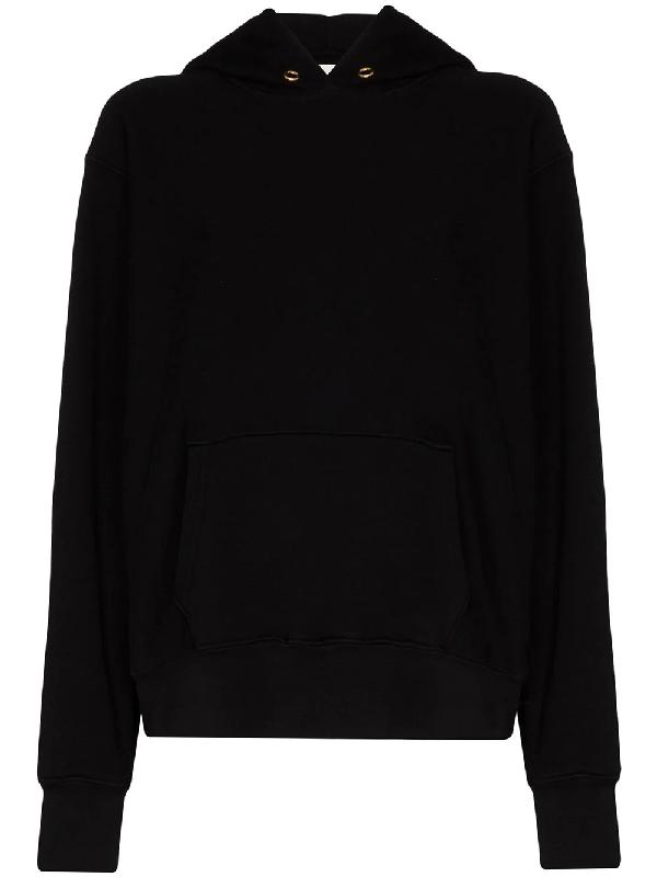 Les Tien Cropped Cotton Hoodie In Black