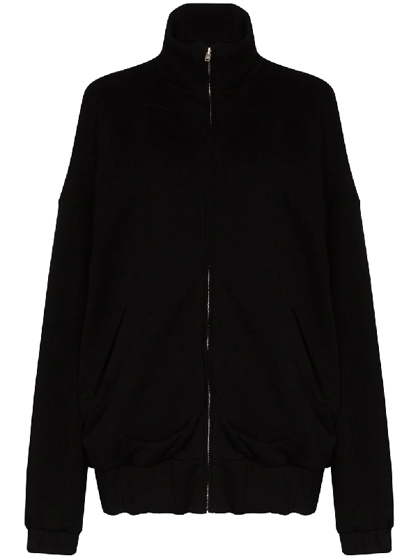 Les Tien Zip-up Cotton Sweatshirt In Black