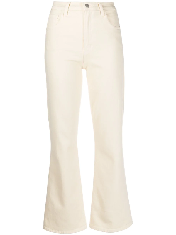J Brand Flared Slim Jeans In Neutrals