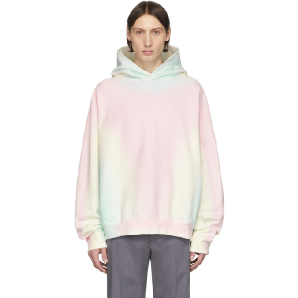 Maison Margiela Tie-dyed Cotton-terry Hooded Sweatshirt In 961 Sunrise