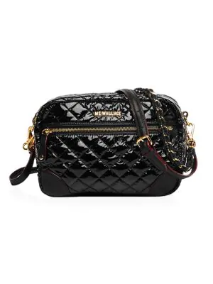Mz Wallace Women's Small Crosby In Black Lacquer