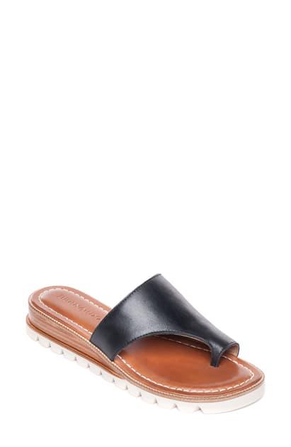 Bernardo Jessi Wedge Sandal In Black Leather