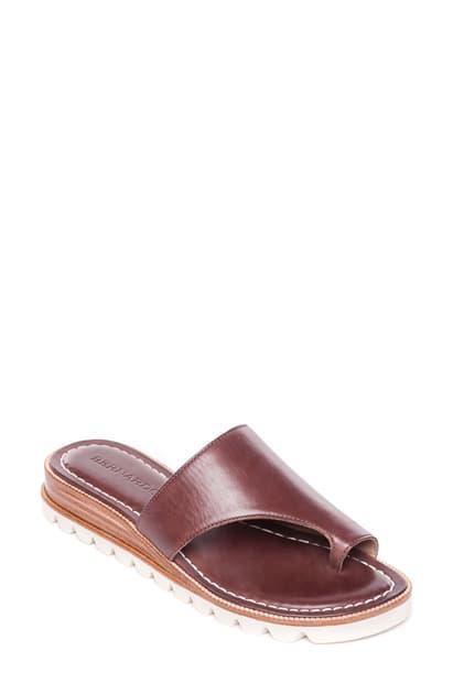 Bernardo Jessi Wedge Sandal In Hot Chocolate Leather