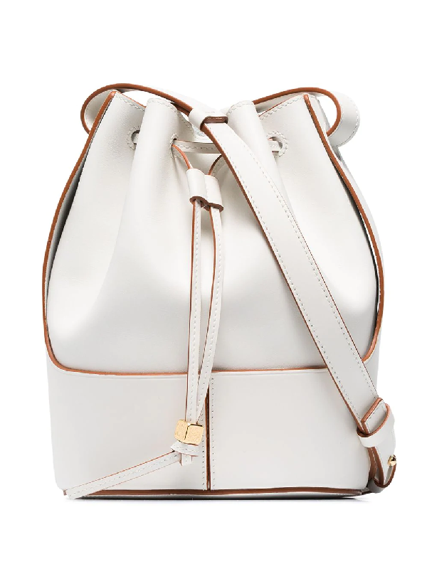 Loewe Balloon Small Leather Shoulder Bag In White