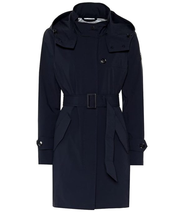 Woolrich Fayette Tech Fabric Trench Coat In Blue