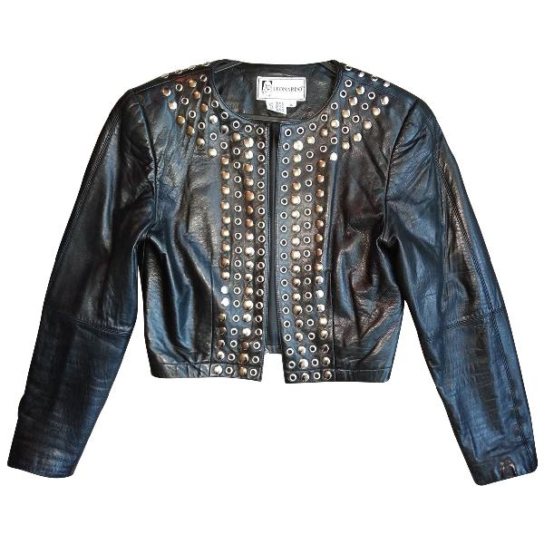 Leonard Black Leather Jacket
