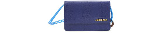 Jacquemus Le Riviera Lizard Embossed Leather Bag In Blue