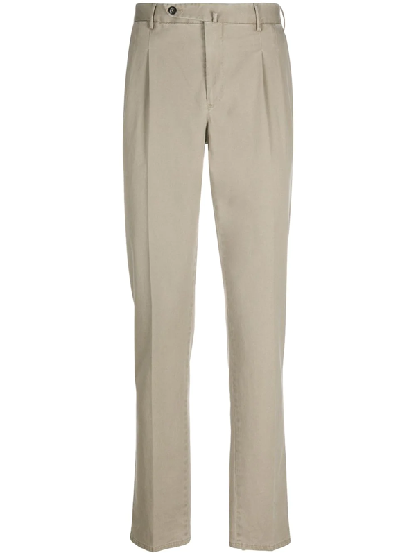 Pt01 Straight Leg Trousers In Grey