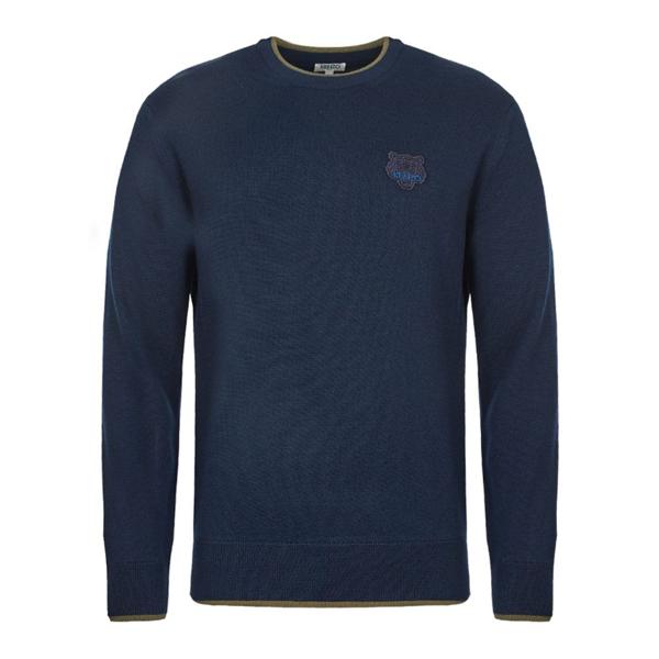 Kenzo Tiger Sweater In Blu