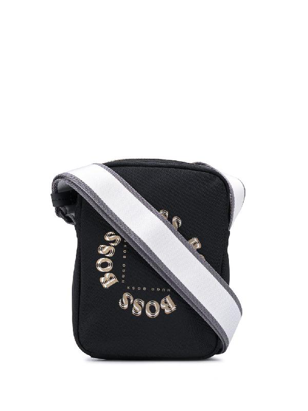 Hugo Boss Bodywear Cross Body Bag Pixel In Black