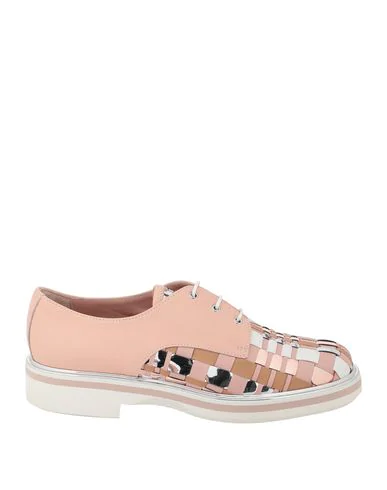 Pollini Laced Shoes In Pale Pink