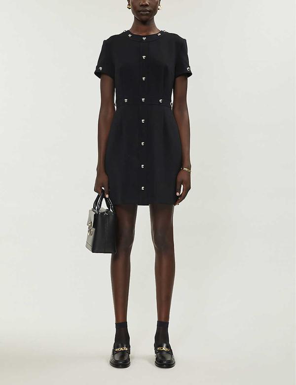 Claudie Pierlot Stud-embellished Mini Dress