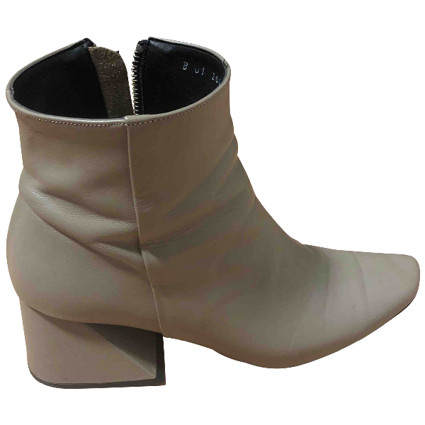 Yuul Yie Beige Leather Ankle Boots
