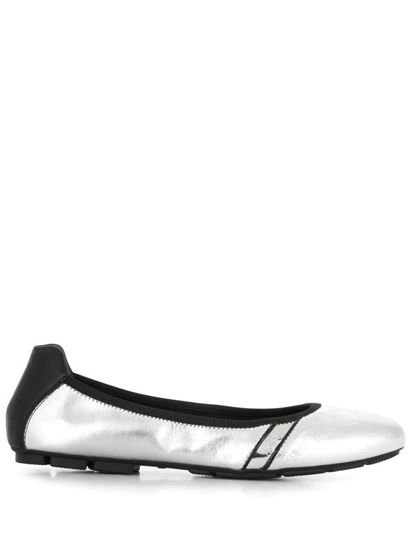 Hogan Ballerine H511 Argento/nere In Silver   ModeSens