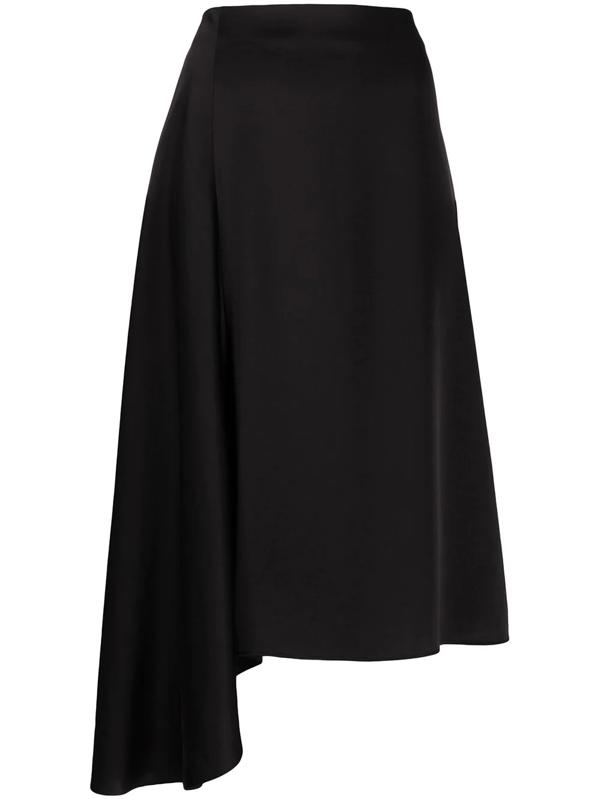 Filippa K Drapey Asymmetric Skirt In Black