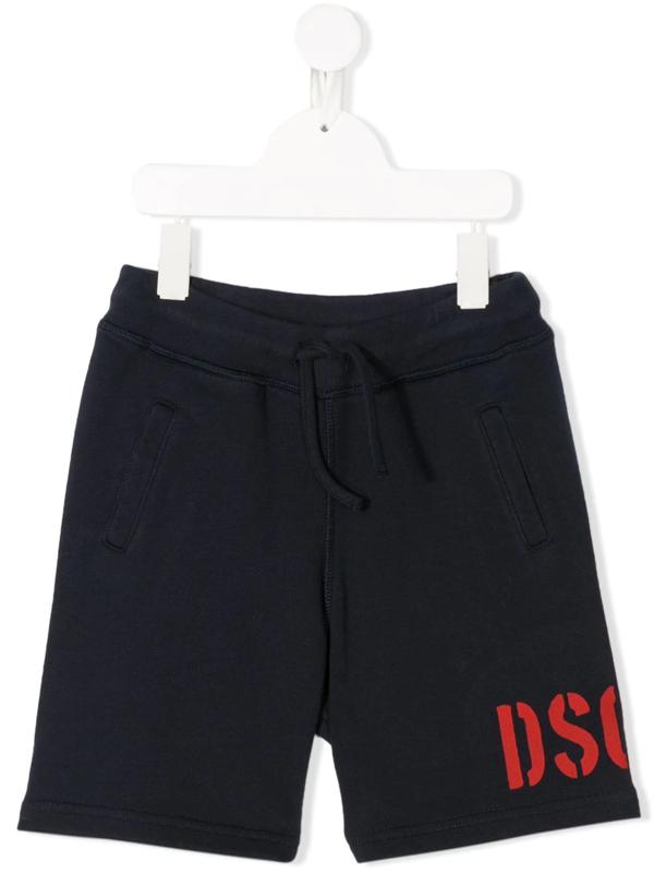 Dsquared2 Kids' Blue Cotton Track Shorts