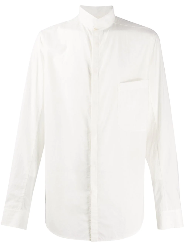 Ziggy Chen Stand-up Collar Shirt In White