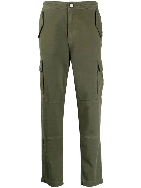 J Brand Straight Leg Cargo Trousers In Green
