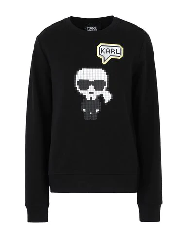 Karl Lagerfeld Rue St. Guillaume Sweatshirt In Black