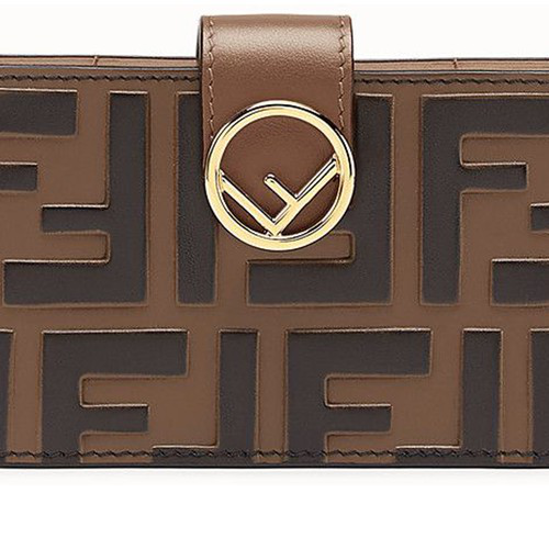 Fendi Card Holder In Marron