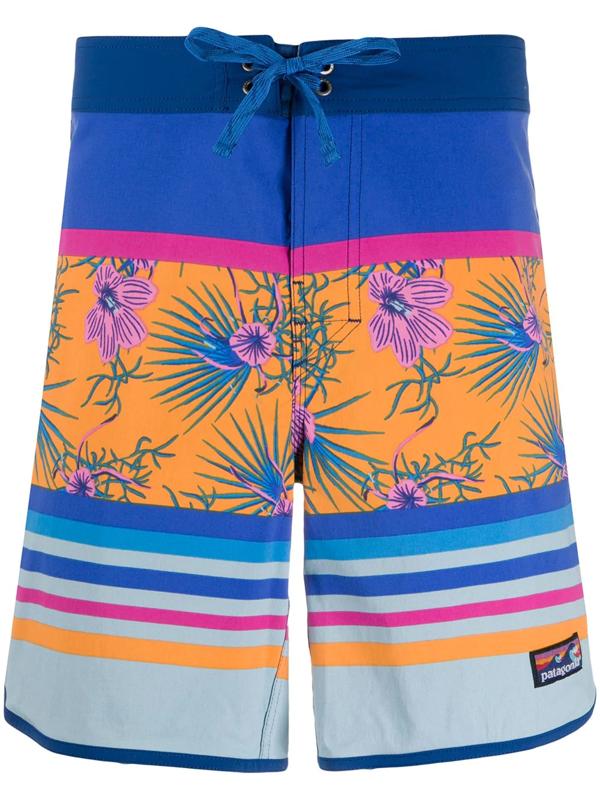 Patagonia Mix Print Bermuda Shorts In Blue
