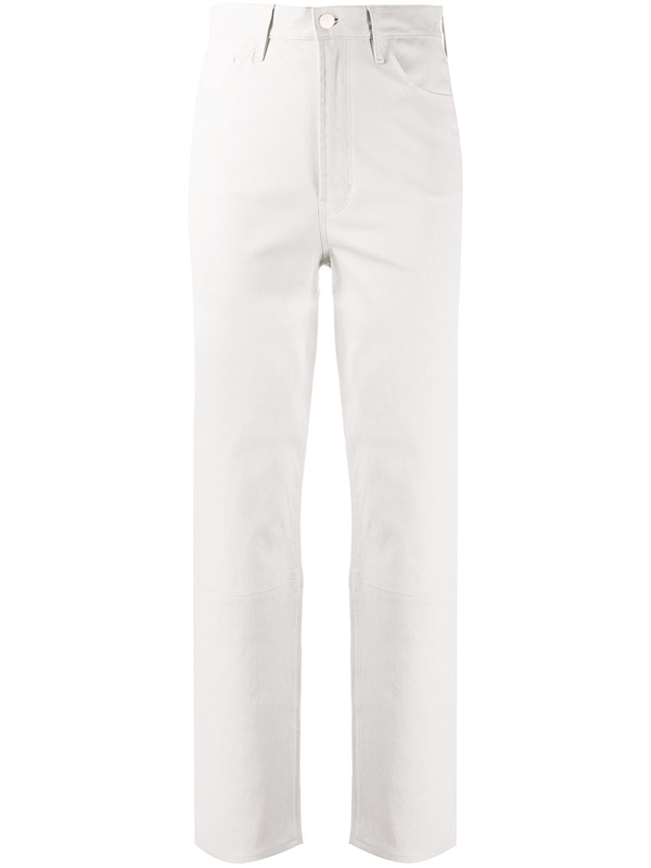 J Brand High-waisted Trousers In Neutrals