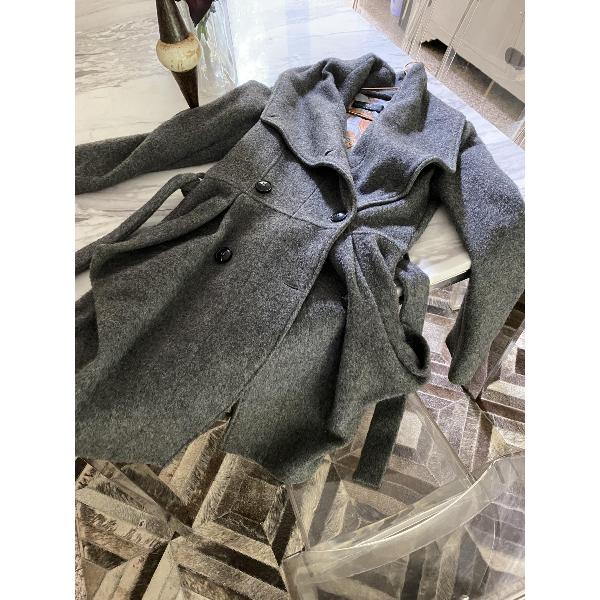 Daniele Alessandrini Grey Wool Coat