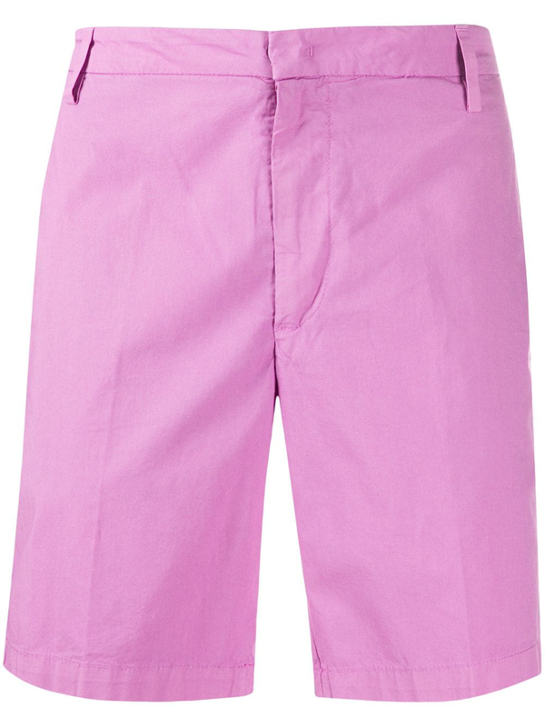 Dondup Manheim Straight-leg Bermuda Shorts In Pink