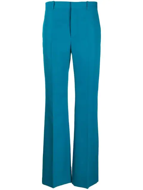 Balenciaga High-rise Tailored Straight-leg Twill Trousers In Blue