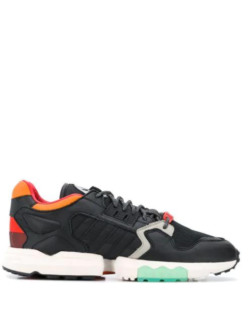 Adidas Originals Adidas Zx Torsion Sneakers In Core Black/ Orange/ Bold Green