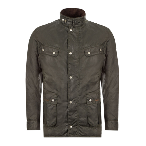 Barbour International Duke Wax Jacket - Sage In Green