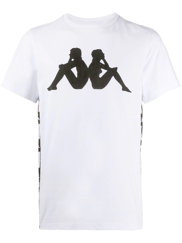 Kappa White T-shirt With Side Bands