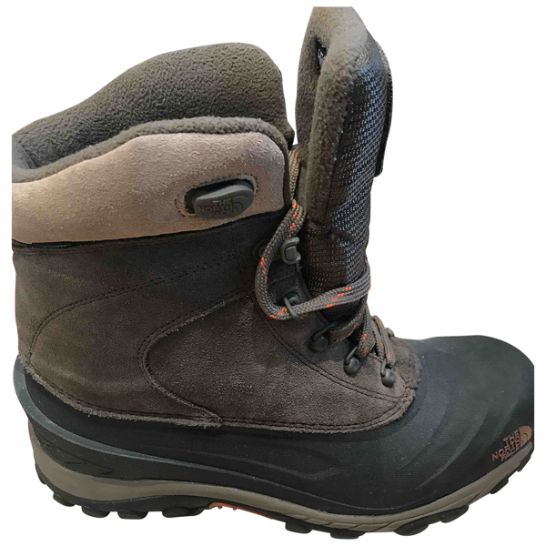 Pre-owned The North Face Brown Rubber Boots