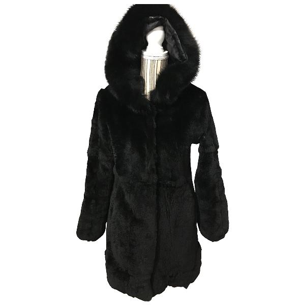 Arkk Black Rabbit Coat
