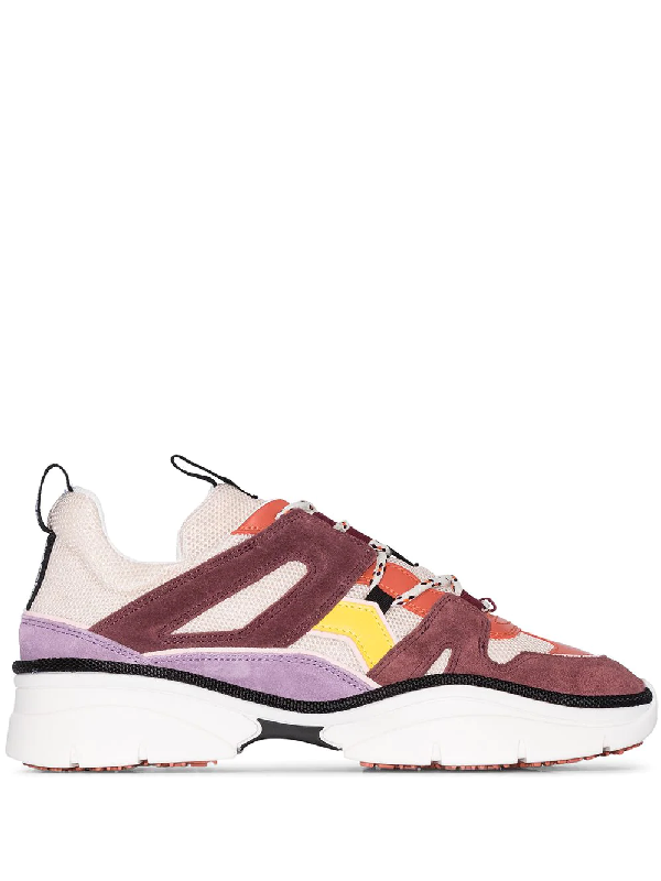 Isabel Marant Kindsay Sneakers In Viola Tech/synthetic In Pink