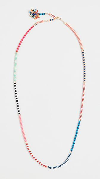 Roxanne Assoulin Happy Stripes Necklace In Multi
