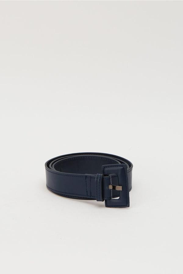 Jaggar Rectangle Buckle Belt In Navy