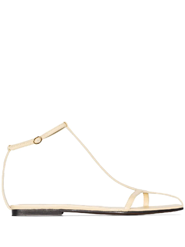 Neous Yellow Jacqui Leather Sandals In Neutrals