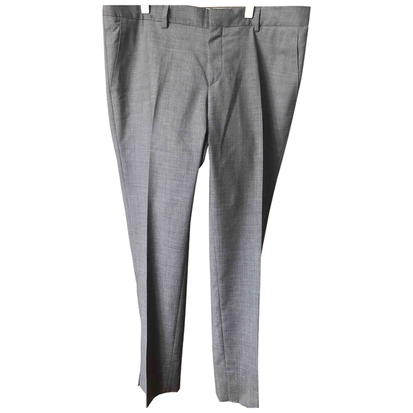 Pre-owned Chloé Stora Grey Wool Trousers