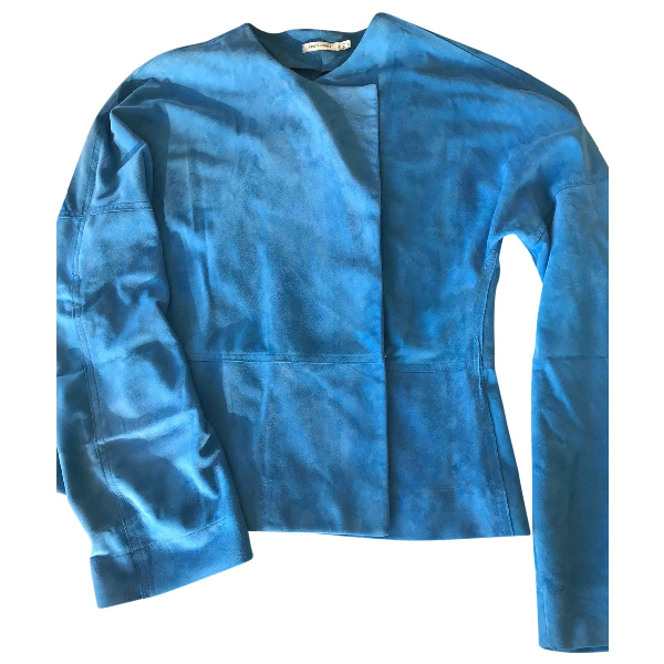 Protagonist Blue Leather Jacket