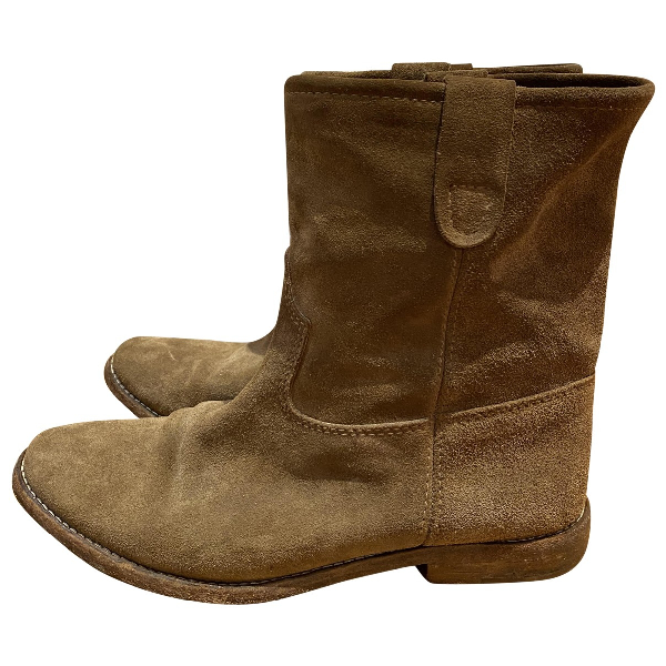 Isabel Marant Crisi  Beige Suede Ankle Boots