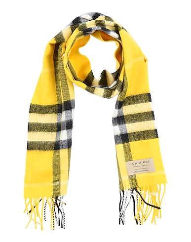 Burberry Kids' Scarves In Yellow