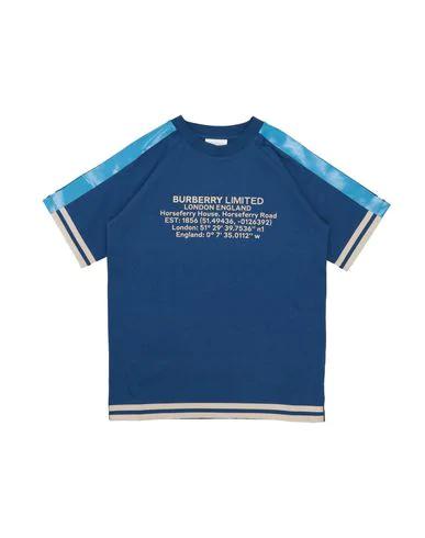 Burberry Kids' T-shirt In Blue